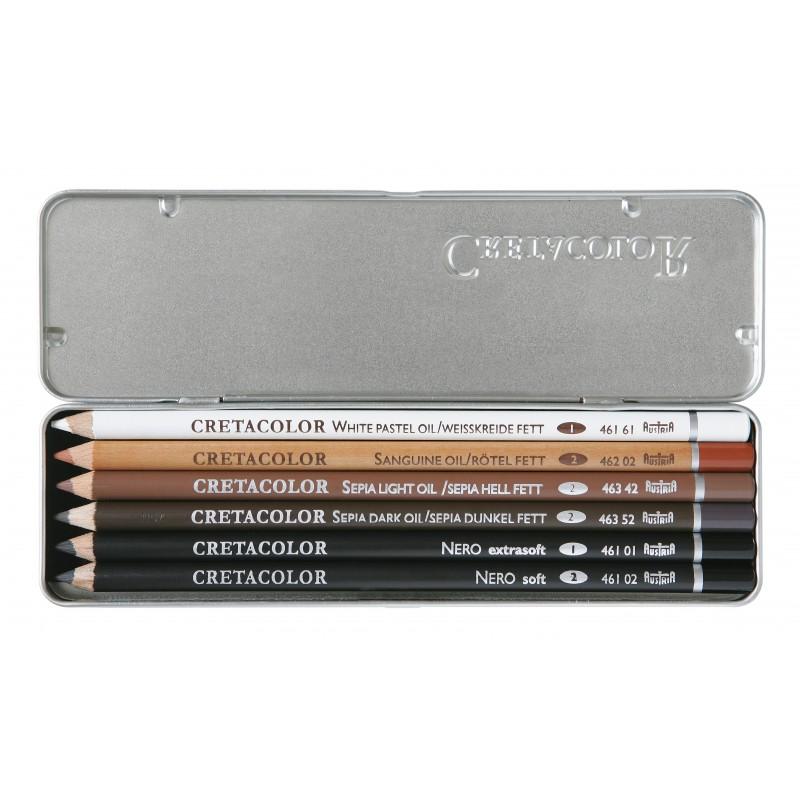 Oil pencils set Cretacolor 6pcs