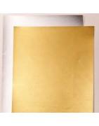 Dekoratyvinis  A4 kartonas auksas, sidabras