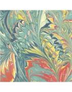 Dekoratyvinis popierius su marmuro efektu, 220g/m2, 23x33